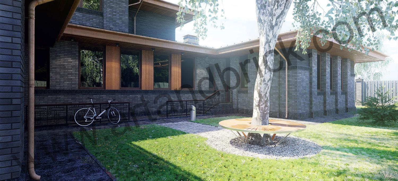 Загородный дом в стилей Прерий - задний фасад 2. Площадь жилого дома в стиле «Прерий» - 930 кв.м.