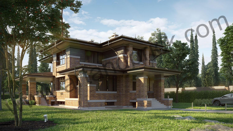 Архитектурный проект частного дома в стиле Райта (МО, Истринский р-н, КП «Балтия») 1