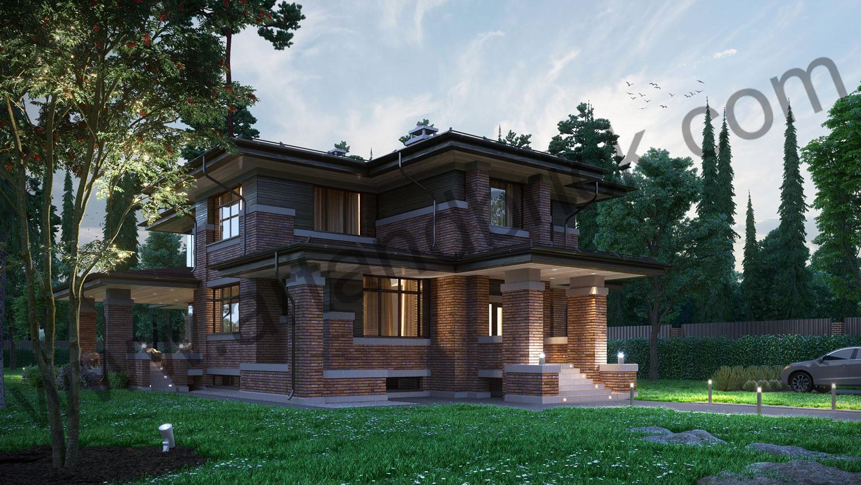 Архитектурный проект частного дома в стиле Райта (МО, Истринский р-н, КП «Балтия») 2