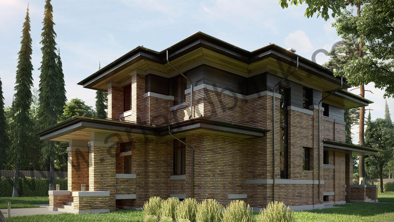 Архитектурный проект частного дома в стиле Райта (МО, Истринский р-н, КП «Балтия») 3