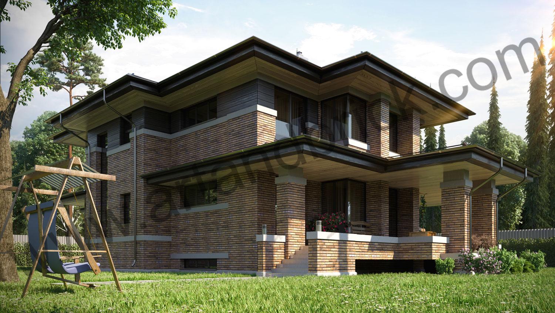 Архитектурный проект частного дома в стиле Райта (МО, Истринский р-н, КП «Балтия») 4