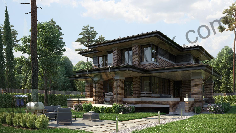 Архитектурный проект частного дома в стиле Райта (МО, Истринский р-н, КП «Балтия») 5