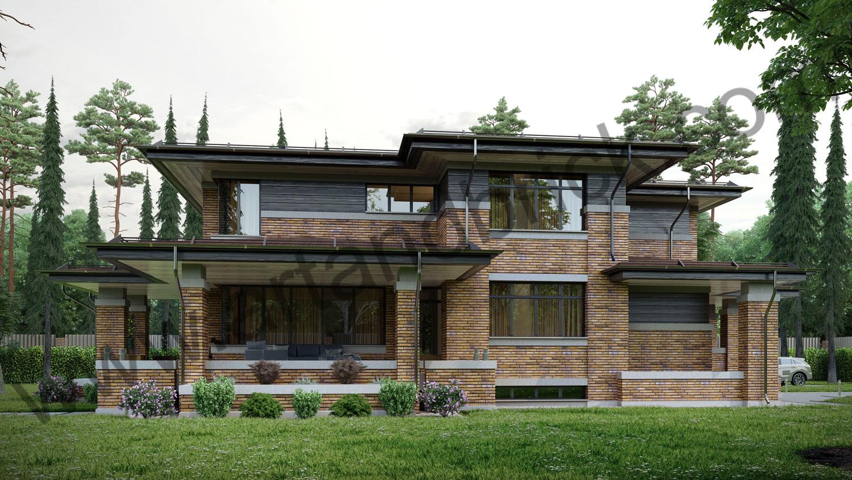 Архитектурный проект частного дома в стиле Райта (МО, Истринский р-н, КП «Балтия») 6