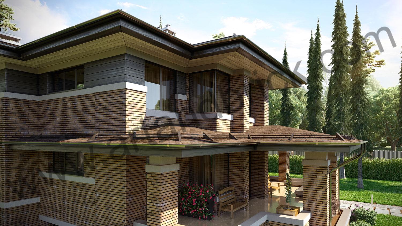 Архитектурный проект частного дома в стиле Райта (МО, Истринский р-н, КП «Балтия») 7