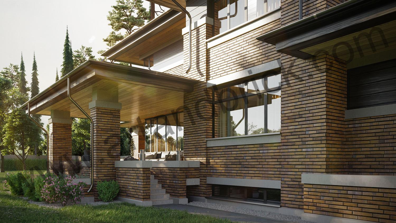 Архитектурный проект частного дома в стиле Райта (МО, Истринский р-н, КП «Балтия») 8