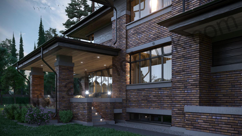 Архитектурный проект частного дома в стиле Райта (МО, Истринский р-н, КП «Балтия») 9