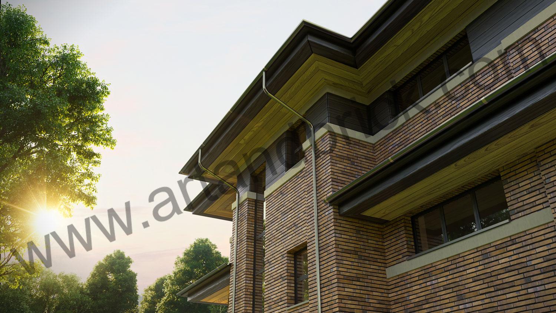 Архитектурный проект частного дома в стиле Райта (МО, Истринский р-н, КП «Балтия») 10