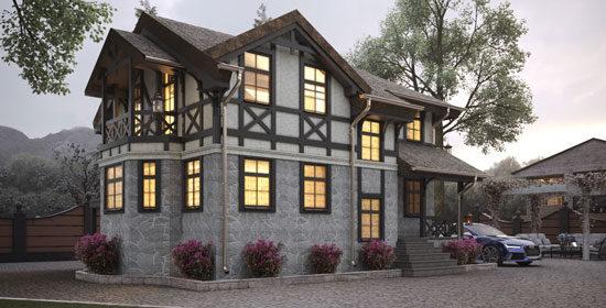 Дом в нормандском фахверковом стиле в г. Руза