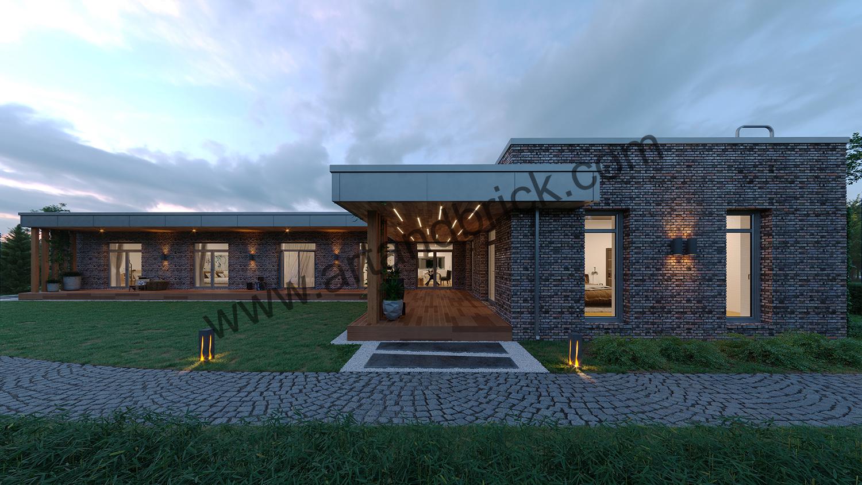 Дом в стиле Минимализм хай-тек скандинавский стиль